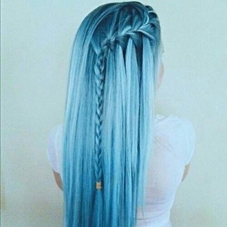 pastel hair hairstyles braid