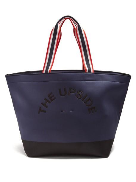 The Upside neoprene navy bag