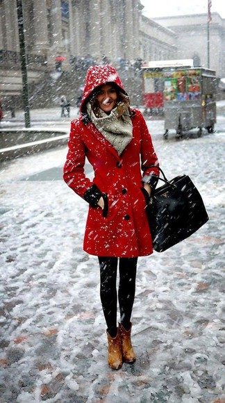 coat red winter coat