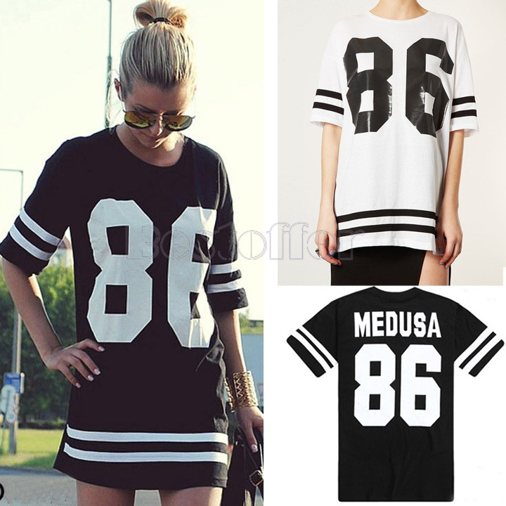 86 new 2014 summer women oversized loose short sleeved T shirt American baseball star models t shirt dress SV14 SV002967-in T-Shirts from Apparel & Accessories on Aliexpress.com | Alibaba Group