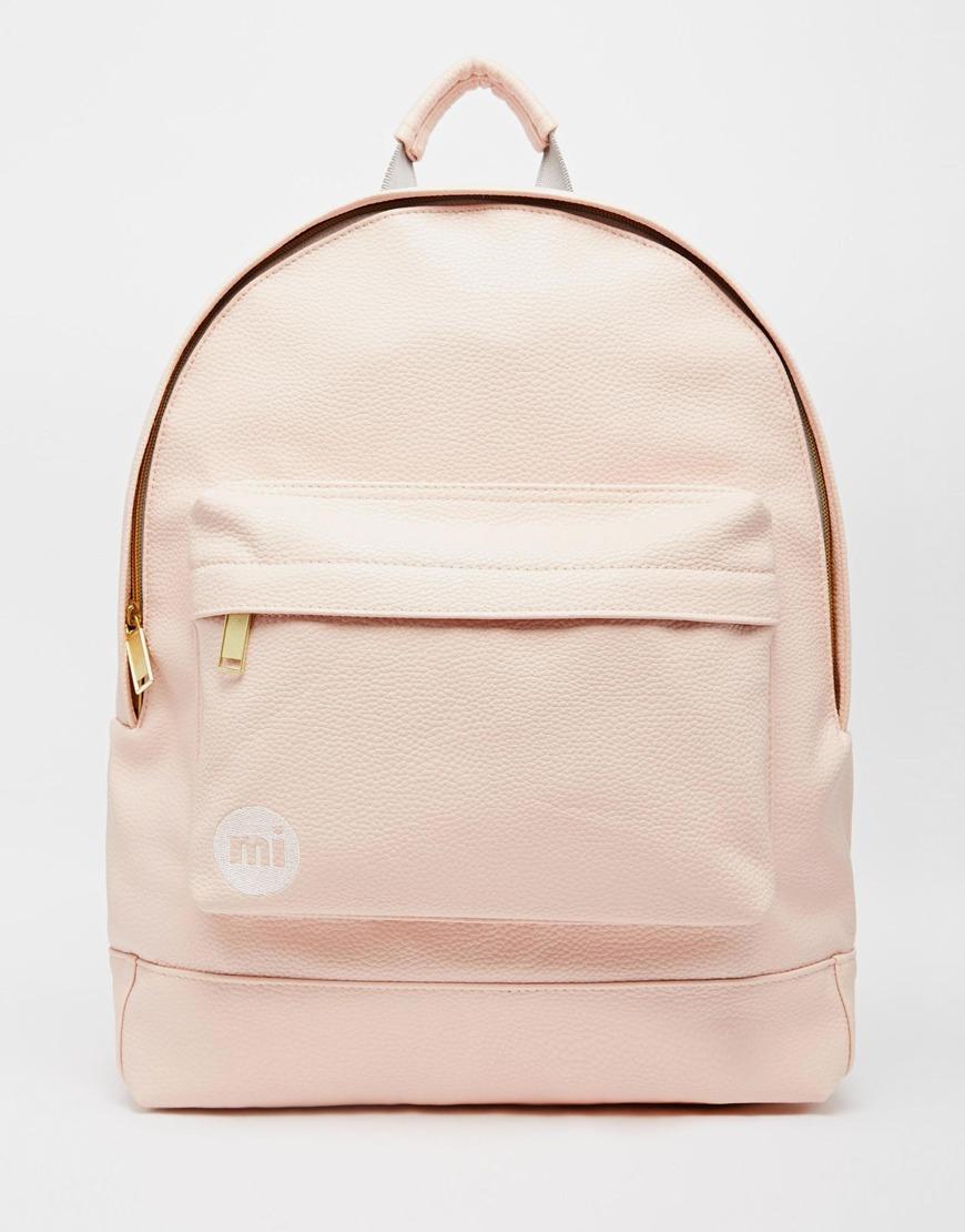 mi pac backpack in tumbled pastel pink at. Black Bedroom Furniture Sets. Home Design Ideas