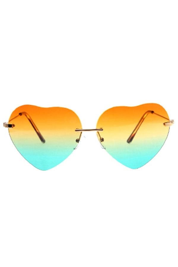 Gradated Heart Sunglasses - OASAP.com