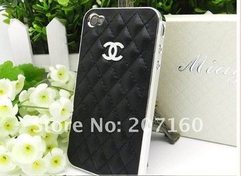 Free shipping! Best selling Channel leather case for iphone4 / 4s for Iphone Stylish High Quality  (without box)-in Phone Bags & Cases from Phones & Telecommunications on Aliexpress.com