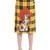 Dog Embroidered Plaid Wool Skirt