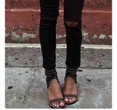 shoes,blouse,white,tank top,flowy,peplum,summer,black jeans,ripped jeans,jeans,sandals,studded sandals,flat sandals,denim,high waisted jeans,skinny jeans,boyfriend jeans,blue jeans,white ripped jeans,acid wash jeans,black,grunge,grunge wishlist,girly wishlist,dope wishlist,hipster wishlist,streetwear,streetstyle,sunglasses,straps gold tiny studs,black sandals,black low heel sandals,top,white top,peplum top,sincerely jules,blogger