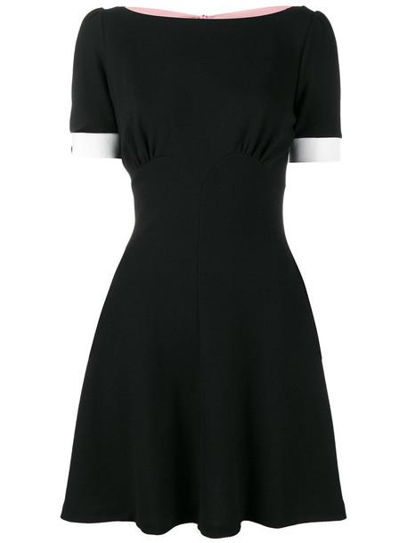 Miu Miu dress mini dress mini back women spandex black wool