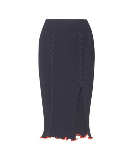 opening ceremony skirt pencil skirt cross criss cross blue