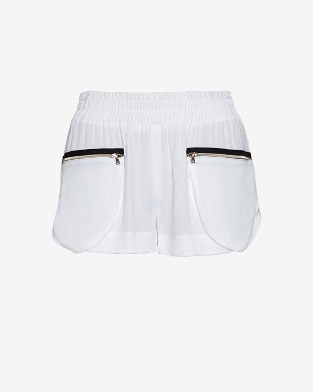 L'Agence Zipper Detail Track Shorts | Shop IntermixOnline.com