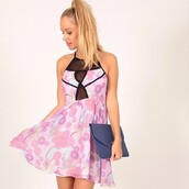dress,print,purple,mesh