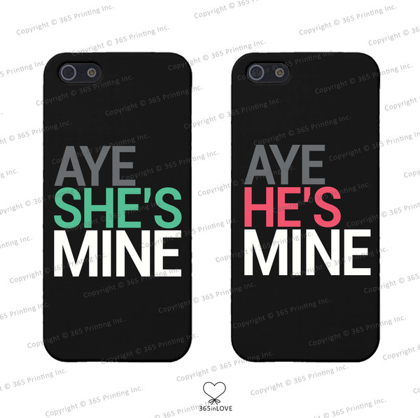phone cover matching phone cases matching phone covers aye she's mine aye he's mine his and hers phone cases his and hers phone covers his and hers gifts mr and mrs wedding gifts matching couples