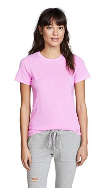 Cotton Citizen classic vintage light pink light pink top