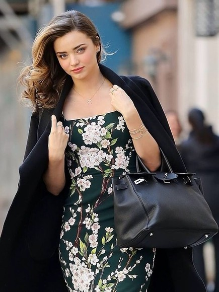 dress little black dress miranda kerr flowers
