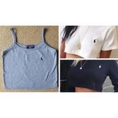 shirt,tank top,top,grey,polo shirt,long sleeves,crop tops,black,white,ralph lauren,polo ralph lauren crop top,polo sport