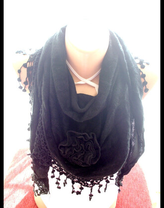 scarf scarves gift ideas black scarf
