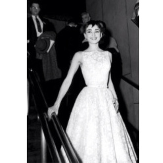 dress audrey hepburn high neck lace dress formal dress fashion audrey hepburn