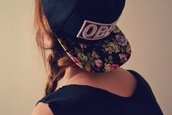 hat,obey,snapback,hairstyles,hair accessory,accessories,cap,floral,hipster