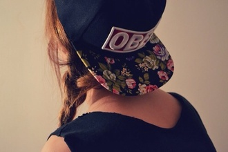 hat obey snapback hairstyles hair accessory accessories floral cap hipster black printed snapback district of chic cute
