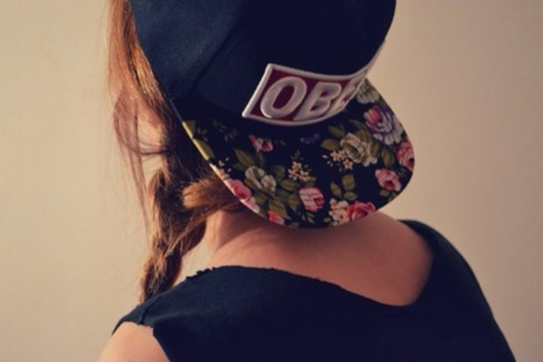 hat obey snapback hairstyles hair accessory accessories cap floral floral  hipster 97441384fcba
