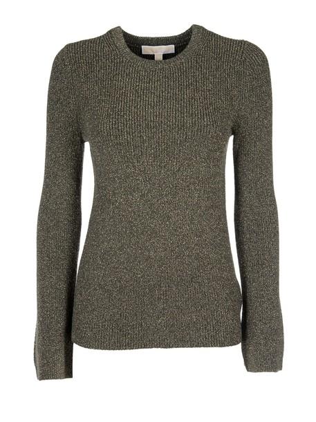 jumper metallic knit sweater