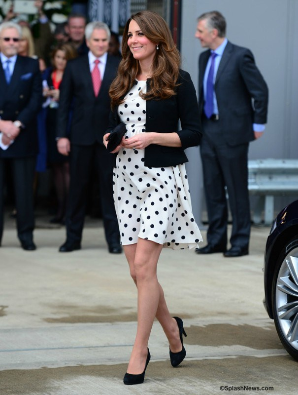 Promotion! same british princess kate middleton women's dresses new fashion 2013 pregnant kate large polka dot maternaty dress