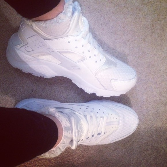 shoes nike sneakers platinum white trainers huaraches huarache white