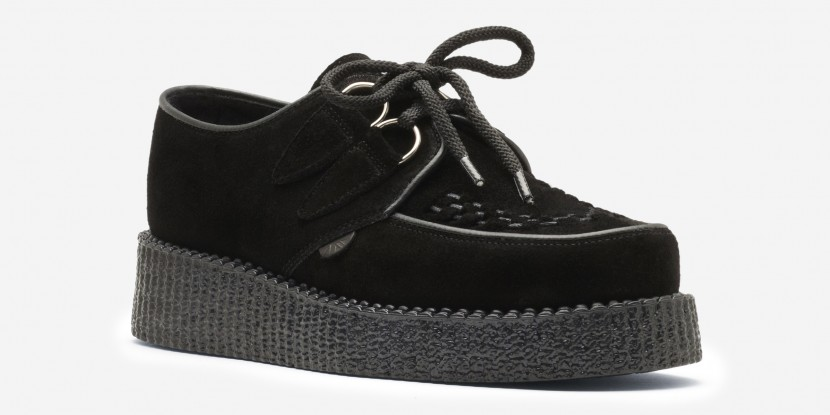 Underground Shoes | Single Sole Wulfrun Creepers Black Suede | Shoes, Brothel Creepers,Underground,England