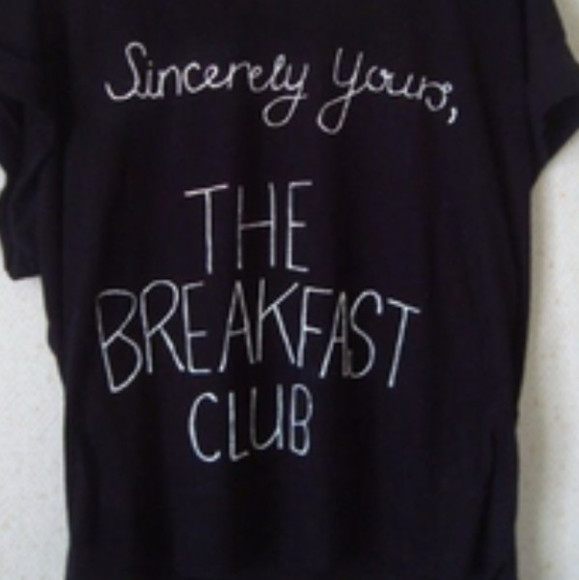 shirt black shirt t-shirt quote on it the breakfast club movie