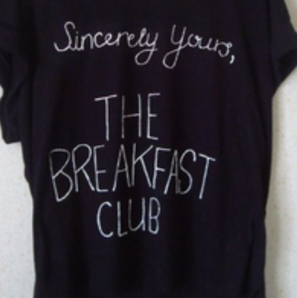 shirt quote on it black shirt the breakfast club movie t-shirt