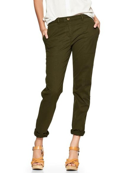 pants khaki broken-in straight cargo khakis
