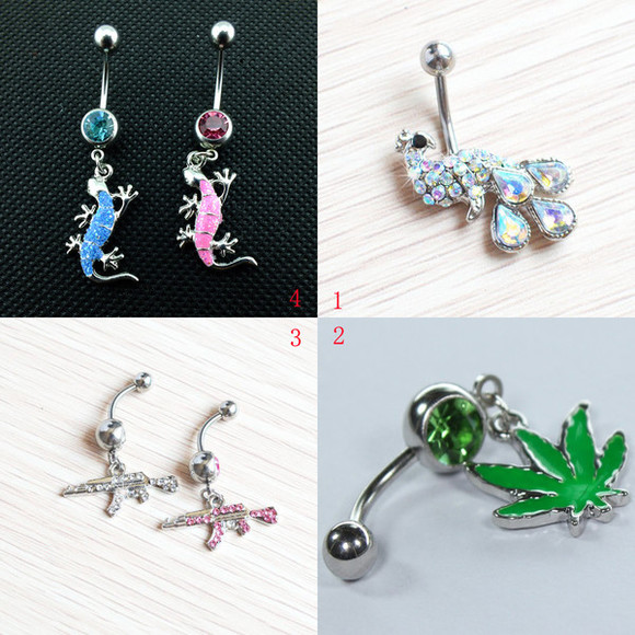 gift jewels popular charming popular fashion unique wonderful fashion Belly Ring lovely animal crystal