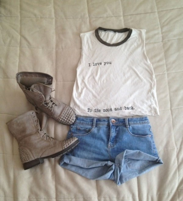 tank top tank to short shoes shirt black and white grunge vintage