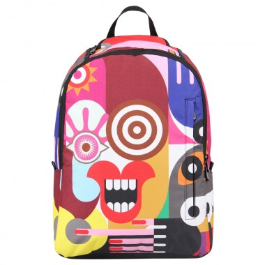 Abstract painting school book backpack for teenager