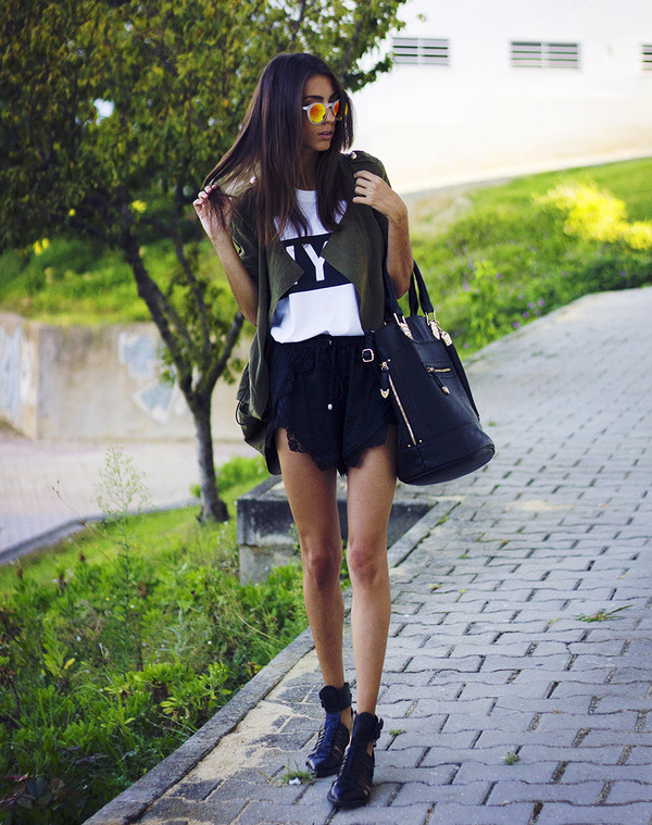 mexiquer jacket sunglasses bag t-shirt shorts shoes
