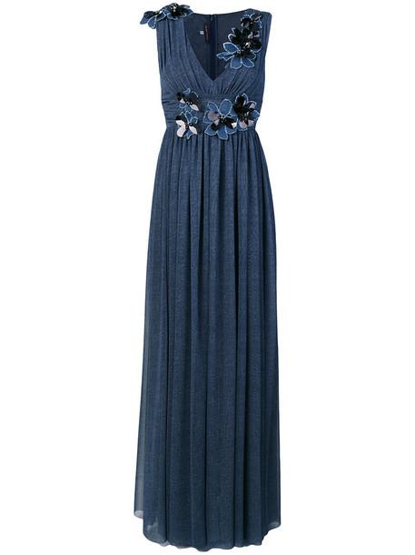 Talbot Runhof dress women spandex blue