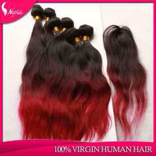 hair accessory human hair brazilian dip dyed