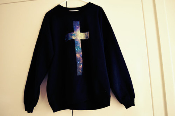 sweater hoodie black cute black sweater galaxy cozy kawaii cross galaxy cross galaxy sweater galaxy cross sweater galaxy cross hoodie cross hoodie cross sweater oversized sweater