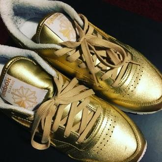 shoes reebok classic gold