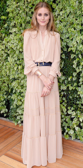 olivia palermo maxi dress nude boho