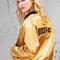 Pre-order catherine fulmer bowie gold satin bomber jacket – backbite