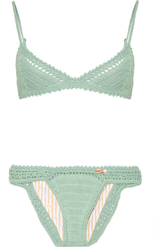bikini triangle bikini triangle cotton green swimwear
