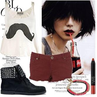 lipstick moustache