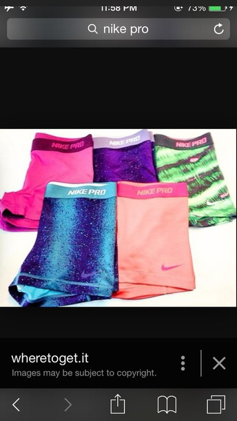 shorts nike pro spandex nike pro sportsbra