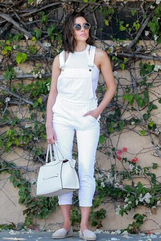 jeans white all white everything spring outfits olivia culpo flats espadrilles top shoes