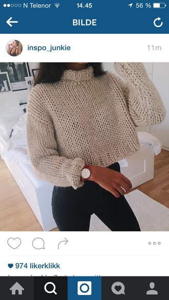sweater beige fall outfits fall sweater girl girly pretty cute cute top cute sweaters cute outfits