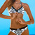 Mixed Print Halter Sexy Two Piece Swimsuit