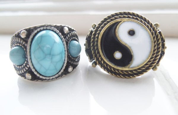 jewels ring yin yang jewelry ring jewels jewelry stone turquoise