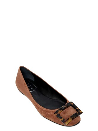flats suede tan shoes