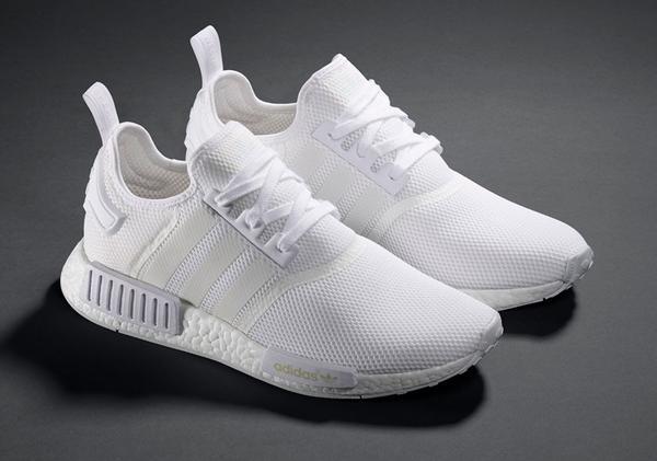 adidas nmd all white mens