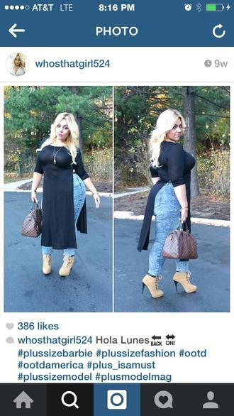 shirt black dress slit top maxi dress