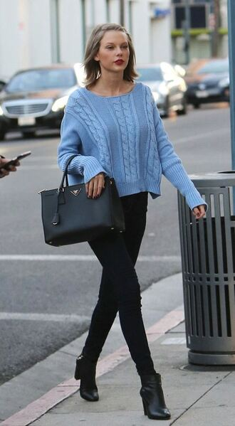 sweater taylor swift ankle boots jeans
